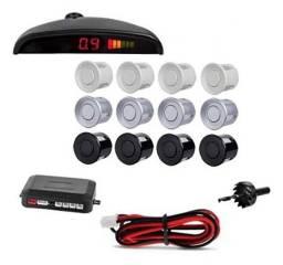 Sensor de estacionamento re 4 sensores sinal sonoro display em promoção