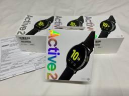 Relógio Samsung Galaxy Watch Active 2 44m Preto / Lacrado + Nota