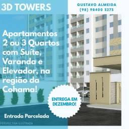 [67] 3D TOWERS: Apartamento com entrega para o mês que vem!