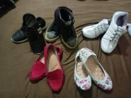 Calçados femininos números 35