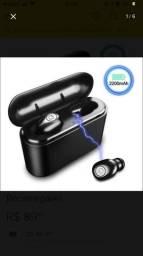 Fone De Ouvido Bluetooth A prova d?água dura 4 horas
