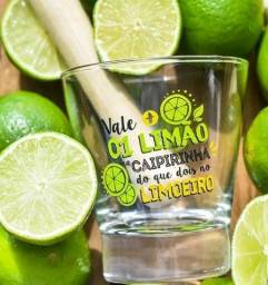 Conjunto Caipirinha - Copo + Socador - Mais Vale 1 Limão - Novo