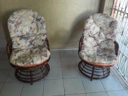 Cadeiras giratorias rústicas