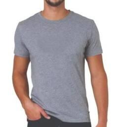 Kit 10 Camisetas Lisas 100% Algodão - Mescla