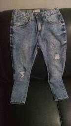Vendo duas calças jeans (infantil masculina), tamanho: 9-10, por 100,00