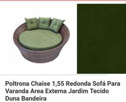 Poltrona Chaise_sofá redondo jardim