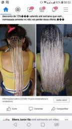 Promoção 100 tranças Box braids