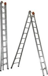 Escada Extensiva Em Alumínio 08 A 16 Degraus Botafogo
