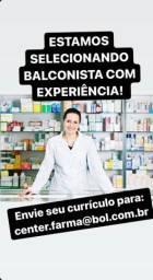 Vaga para balconista de farmacia com experiencia