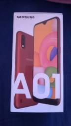 Samsung A01, novo na caixa