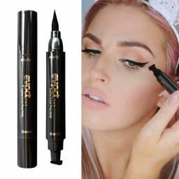 2 em 1 líquido lápis delineador maquiagem