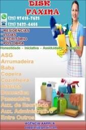 1. Diarista, Passadeira, Cozinheira, Faxineira, Folguista, Emp.Doméstica,