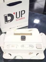 Apple Watch4 44mm Gold+aço inoxidável+celular+GPS+pulseira estilo milanês,loop original