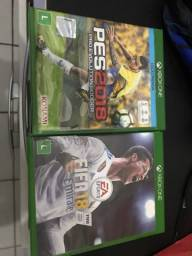 Título do anúncio: FIFA 18 e PÉS 2018 XBOX ONE