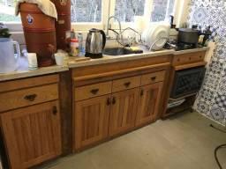 Balcao cozinha madeira maciça angelim R?1200