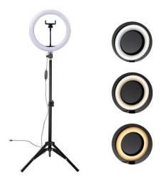 Kit Iluminador Led Ring Light Tripé Suporte Celular Estética