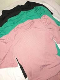 Conjunto de blusa caneladas 20,00 cada