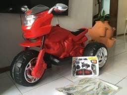 Moto elétrica infantil - Super Moto GT Bandeirante - NOVA!