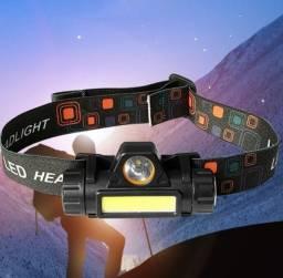 Lanterna de Cabeça recarregável - Luz LED aberta e Longa Distância a prova d água<br>