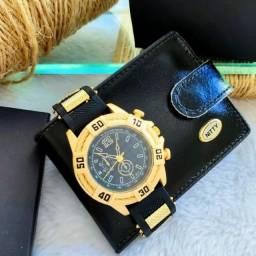 Título do anúncio: Relógio masculino com carteira