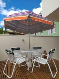 Jogo mesa e cadeiras para varanda