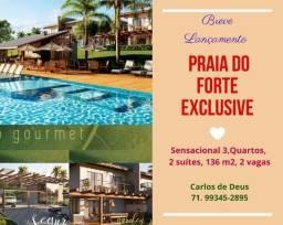 Lançamento: Praia do Forte Exclusive, 3 Quartos, 2 suítes, 136 m², infraestrutura