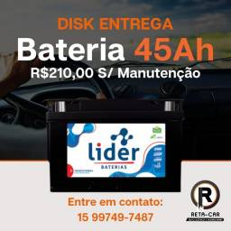 Título do anúncio: Líder Bateria 45 amperes * Disk Entrega Sorocaba