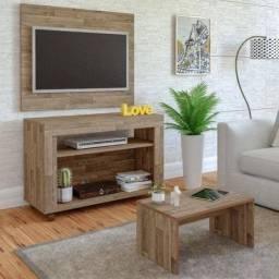 Painel para tv e aparelho de som rádio