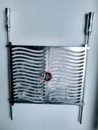 Grelha Alumínio Versátil Duas Formas de Usar Inverte Lados