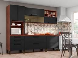 Cozinha Modulada Nogueira/Black SR12