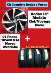 """Rodas 14"""" com pneus"""