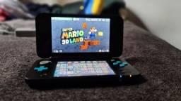 Nintendo New 2ds XL Desbloqueado + R4 (Games do DS) Lotado de jogos na memória!