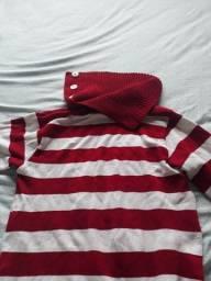 Blusa listada vermelha tam M $ 10
