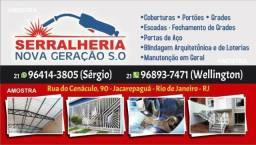 I. Ferro, Metalon, Serralheria, Serralheiro *
