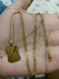 Cordão de ouro 24k puro. Em média 7g