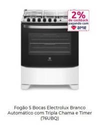 Título do anúncio: Fogão 5 Bocas Electrolux Branco Automático com Tripla Chama e Timer