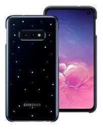Capa protetora para Samsung Galaxy s10e preta com led