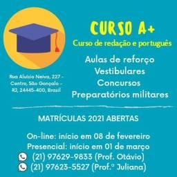 Aulas de língua portuguesa, redação e literatura para concursos