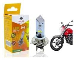 Lâmpada Super LED H4 Farol de Moto (1pç) Stallion Cavalinho Eco 500 6500k