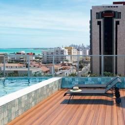 80 m2 com área de lazer a uma rua da beira mar em mega estrutura no jardim Oceania