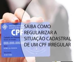 Título do anúncio: CPF Irregular