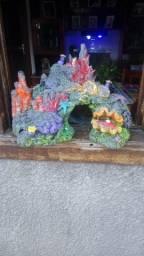 Título do anúncio: Coral Realista p aquários em resina Lindo