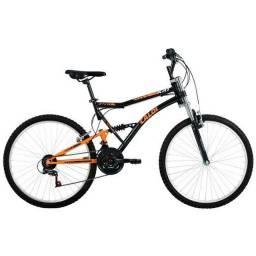 Bicicleta Caloi - Aro 26 - 21 Marchas - Full Suspension