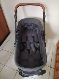 Vende-se carrinho de bebê com moises e bebê conforto