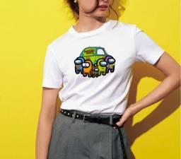Camiseta Among Us Retrô Scooby Doo Mystery Machine