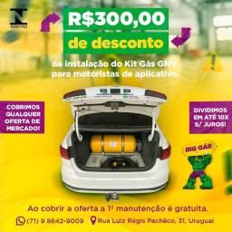 Promoção Kit gás instalado 12x 209