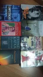Combo 8 livros george orwell Kafka templarios augusto Cury variados - coleção particular