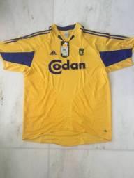 Camisa Brondby (Dinamarca) oficial e na etiqueta