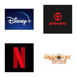 Netflix Globo play e Disney