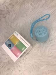 Título do anúncio: Mini caixa de som speaker azul.